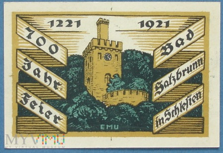 50 Pfennig 1921 - Bad Salzbrunn - Szczawno Zdroj
