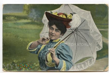 Pani z parasolką - 1907