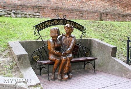 Chełmno - Ławeczka Zakochanych