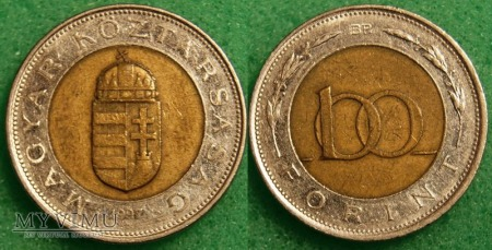 Węgry, 100 Forint 1997