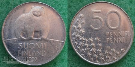Finlandia, 50 PENNIÄ 1993