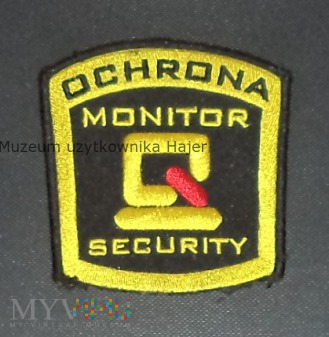 MONITOR SECURITY OCHRONA naszywka