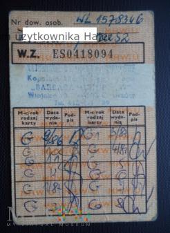 1986 rok dowód wydania kartek żywnościowych G