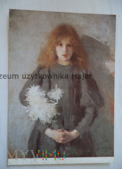 Boznańska Olga Dziewczynka z chryzantemami