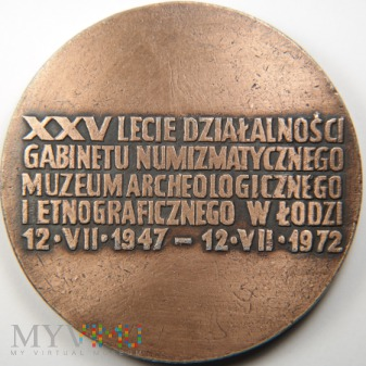 1972 - 102ł - 25 lat Gabinetu numizmatycznego