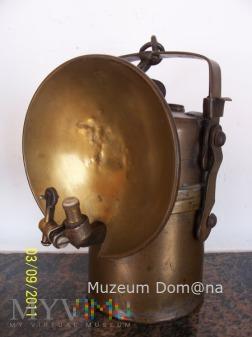 LAMPA GÓRNICZA KARBIDOWA TYP 850 z lat 20-tych