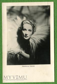Marlene Dietrich Łotwa Pocztówka EMBR