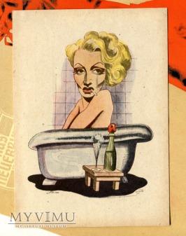 Marlene Dietrich Marlena karykatura niemiecka