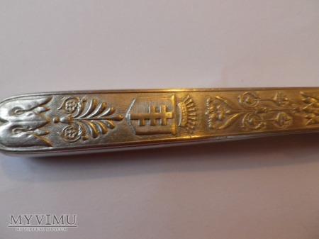 Herb Pilawa- nóż srebro