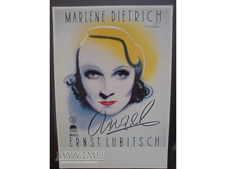 Marlene Dietrich plakat ANIOŁ Ernst'a Lubitscha