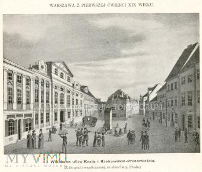 Warszawa - Krakowskie Przedmieście - pocz. XIX w.