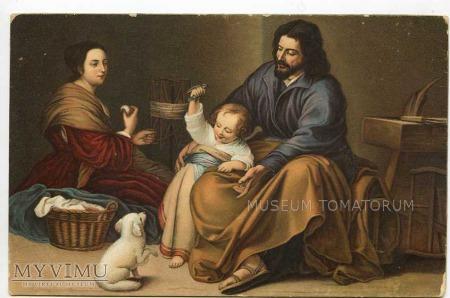 Murillo - Święta rodzina z ptaszkiem i pieskiem