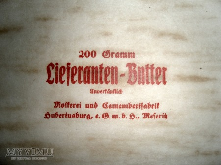 Międzyrzecz opakowanie do masła
