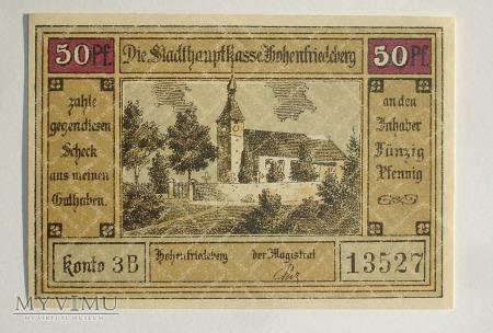 50 Pfennig 1922 - Hohenfriedeberg - Dobromierz