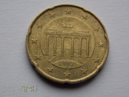 20 EURO CENTÓW 2002- NIEMCY