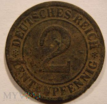 2 RENTENPFENNIG 1923 F - Stuttgart