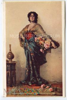 Sichel - Orientalna kobieta z koszem kwiatów