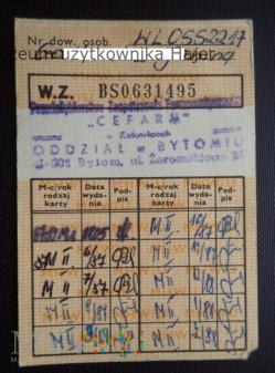 1987 rok dowód wydania kartek żywnościowych M-II