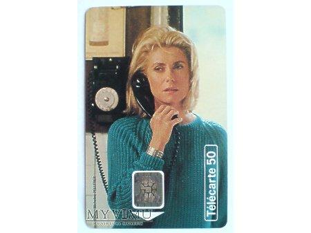 CATHERINE DENEUVE karta telefoniczna 1995