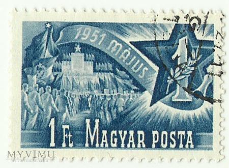 Święto 1 maja - Węgry - 1951 r.