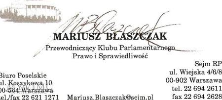 Autograf od M.Błaszczaka