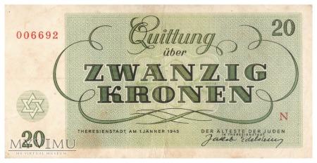 Czechosłowacja (Ob. Terezin) - 20 koron (1943)