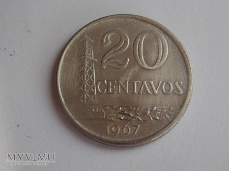 20 CENTAWOS 1967- BRAZYLIA