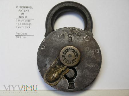 "F. Sengpiel Patent Padlock, #5- Size ""C"""