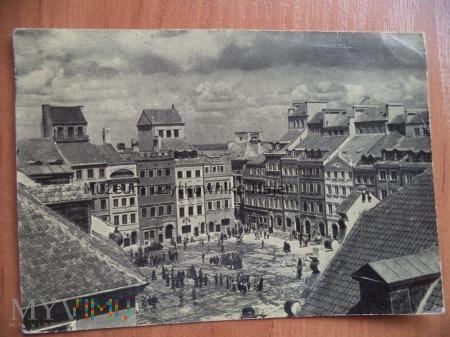 Duże zdjęcie WARSZAWA . Rynek Starego Miasta.Stara Dekerta i