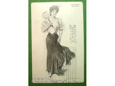 1906 TENIS Dziewczyna w Lecie F. Earl Christy