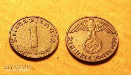 Moneta Reichspfennig 1939