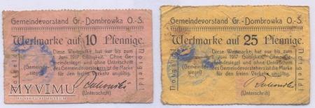 Gmina Dabrówka Wlk. 10 i 25 fenigów