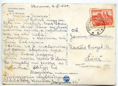 Bad Salzbrunn - Szczawno Zdrój - Deptak - 1962