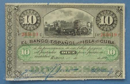 10 pesos 1896 r - Kuba
