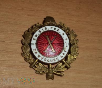 X ZA WYSŁUGĘ LAT ZW. STR. POŻ R.P. Straż Pożarna