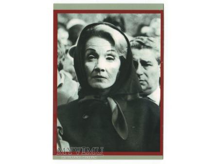 Duże zdjęcie Marlene Dietrich 1963 pogrzeb Edith PIAF