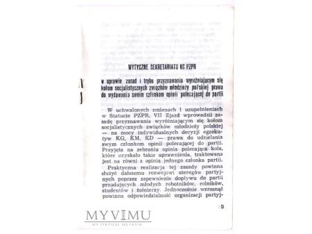 Wytyczne sekretariatu KC PZPR