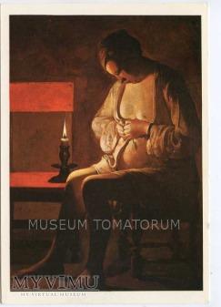 La Tour - Kobieta przed snem