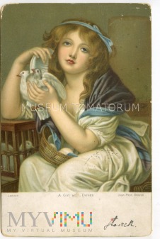 Greuze - Dziewczyna z gołębiami - 1905