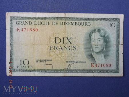 10 Francs, 195? - Luksemburg