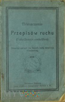 1924 - Tłómaczenie Przepisów ruchu