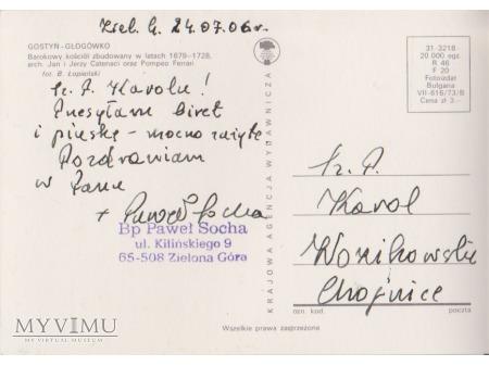 List od Biskupa Pawła Sochy