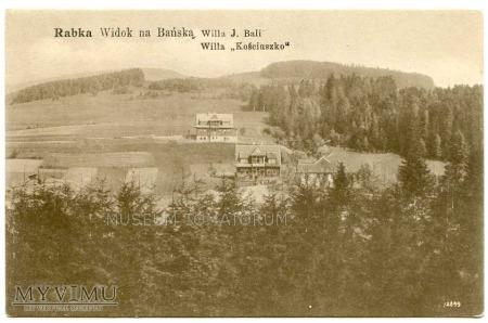 Rabka 1907. Widok na Bańską