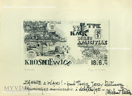 Jan Stanecki, Ekslibris, 1967 r., staloryt, papier
