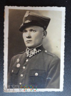 Zdjęcie żołnierza - na pamiątkę- lata 30-ste.