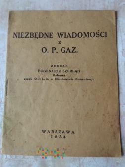 Niezbędne wiadomości z O. P. GAZ.