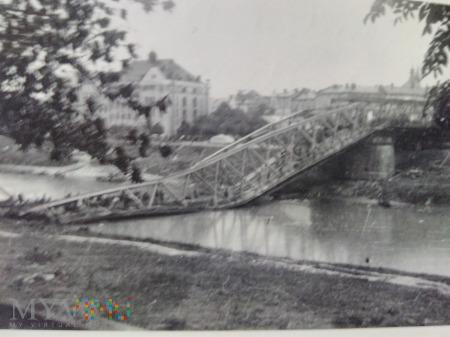 zniszczony most w Przemyślu 1939