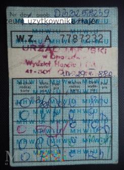 1988 rok dowód wydania kartek żywnościowych O