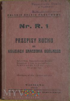 1933 - Nr. R. 1 Przepisy ruchu na kolejach zn. og.