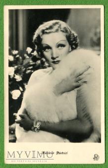 Marlene Dietrich Łotwa Pocztówka IRA Riga 2155